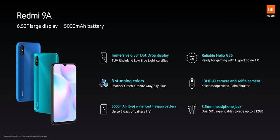 Mindent a Xiaomi Redmi 9A okostelefonról